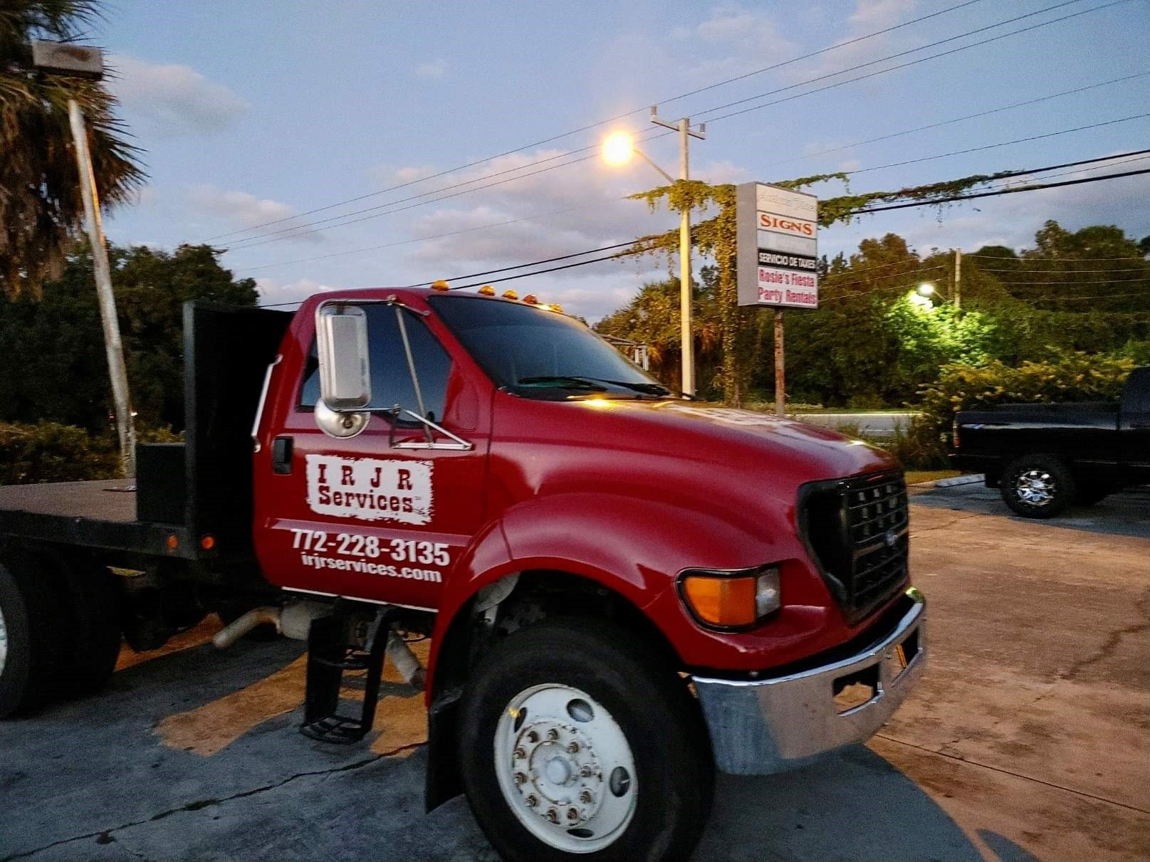 IRJR Services | Indian River Junk Removal Services | New Red Truck with Logo